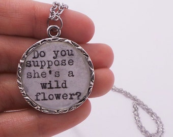 Wildflower Typewriter Necklace