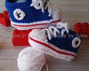 Crochet baby booties crochet Baby Converse-Converse