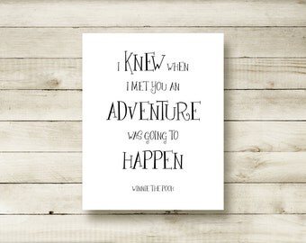 Pooh Quote Nursery Decor Winnie the Pooh Party Theme School Counselor Classroom Decor Anniversary Wedding Gift for Daughter, for Son 2004