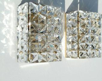 Diamonds are forever! A very, very elegant set of 2 top quality Vintage Kinkeldey sconces