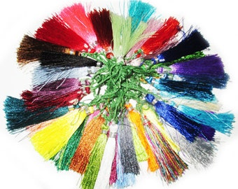 silk tassels pack of 500 pieces in mixed colors