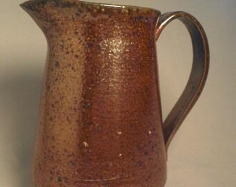 Large Copper Ceramic Pitcher
