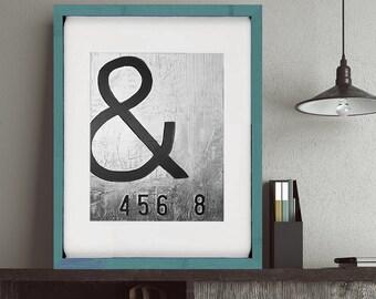 Modern art prints, Black and white, type, home decor, fine art prints, Giclee prints, Modern Abstract art, Wall art print, contemporary