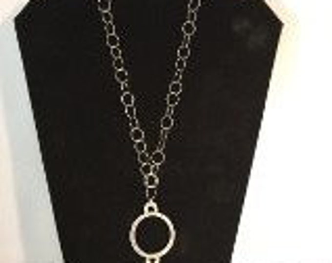 Sterling Silver in the round hammered necklace