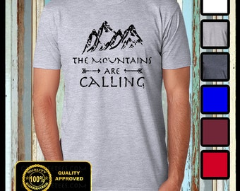 The Mountains are Calling T-shirt, Hiking Shirt, Camping Tee, Funny Mountains Tshirt