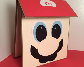 Super Mario birthday cards, birthday party invitations