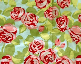 Amy Butler Love Tumble Roses Fabric, Pink, 100% cotton, by 1/2 yard