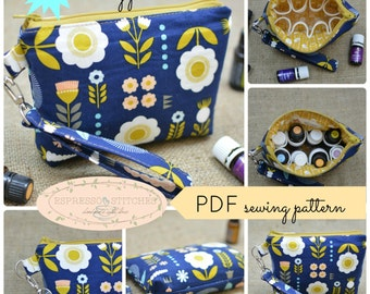 Essential Oil Bag PDF Pattern | pdf sewing pattern | sewing tutorial | oil bag pattern