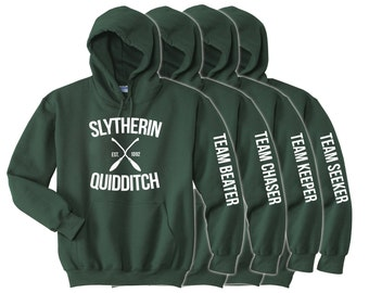 Slytherin Quidditch - Choose Your Team Position- Adult Unisex Hoodie