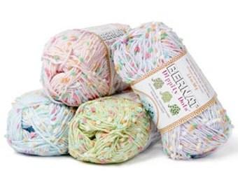 Yarn - Bernat Dippity Dots - Rose, or Denim