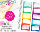 LS23 Bold Dinner Sidebar Life Planner Sticers.  Set of 10 Perfect for the Erin Condren Life Planner Stickers!!!
