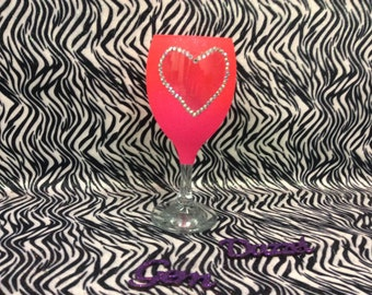 Heart glass ready to post