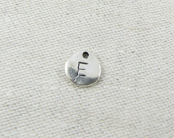 "Silver Irregular-Shape Letter ""E"" Charm, 1 or 5 letters per package  ALF001e"