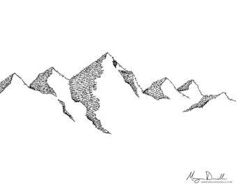 """Landslide - 11"""" x 14"""" Print"""