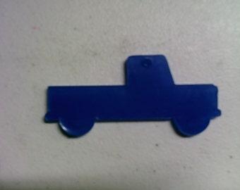 5 acrylic PICK UP TRUCK chain key blanks
