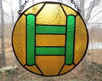 Zodiac Gemini Stained Glass Suncatcher