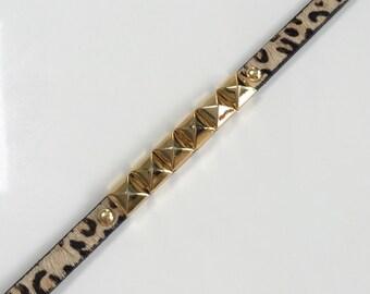 Mohair Leopard Print Wrap Bracelet