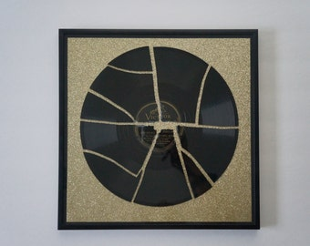Gold Broken Record Wall Art