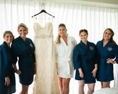 Bridesmaid Gifts - Bridesmaid Robes - Monogrammed White Kimono Waffle Weave Robes for Wedding Party Bridesmaids Gifts Bridal Gifts