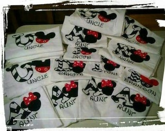 Mickey,Minnie, Birthday party, Parent T-shirts,Embroidered Design!