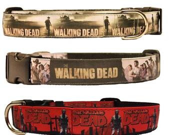 "1"" Width Walking Dead Adjustable Dog Collar"