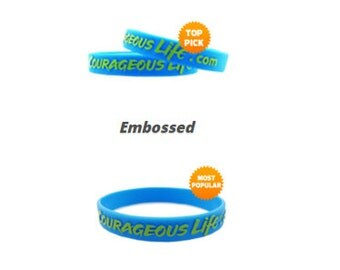 50 Custom Wristbands - Silicone Wristbands - Embossed Wristband - CUSTOM WRISTBAND - custom silicone wristband CUSTOM