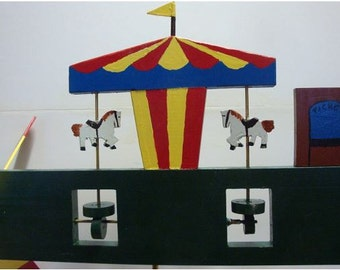 The Carousel Ride Whirligig (You pick the Colors!)