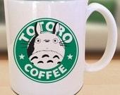 Totoro X My Neighbor Totoro X Starbucks Anime Manga Gamer Geek Nerd Inspired Mug