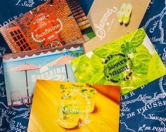 5 postcards / summer and Spring feelings / Hello summer