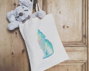 Mini Moon Howler Tote Bag