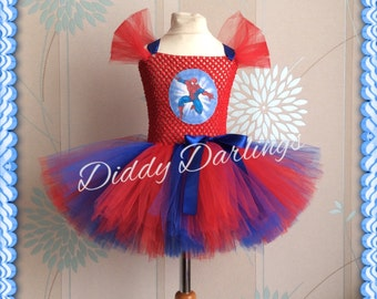 Spider Man Tutu Dress. Spider Girl Tutu Dress. Inspired Handmade Dress. Superhero Tutu Dress. Can be made with a Spider or Spiderman