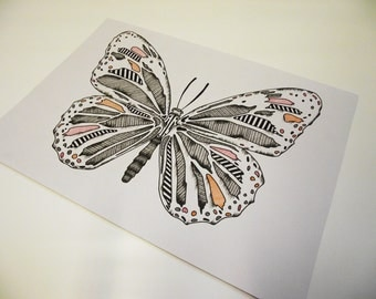 A4 Butterfly Illustration