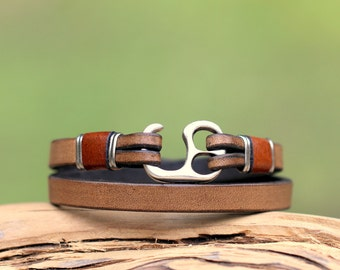 Mens leather bracelet, handmade, leather jewellery, mens bracelet, wrap bracelet, mens jewelry, best gift