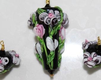 Monte Verdi The Pink Lady Lampwork Glass Bead Set