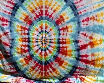 Large Tie Dye Hurricane Matthew Rain Dye Tunnel Vision Tapestry - No fade guarantee