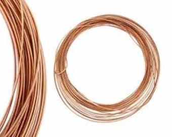 18 Gauge Half Round Copper Wire 7 yards