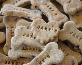 Cranberry Banana Gourmet Dog Treats, Dog Cookies, Gluten Free, Dog Gift