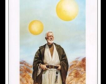 "Vintage Print Ad 1990's : Star Wars Dave Dorman Illustration - Obi-Wan Ben Kenobi Wall Art Decor 8.5"" x 11"" Book Print"