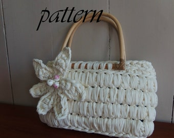 Digital crochet pattern Zpagetti bag with bamboo handles/download crochet pattern crochet pattern Zpagetti Zpagetti handbag/zomertas.