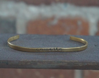 "Hand Stamped ""comadre"" Bracelet/Cuff"