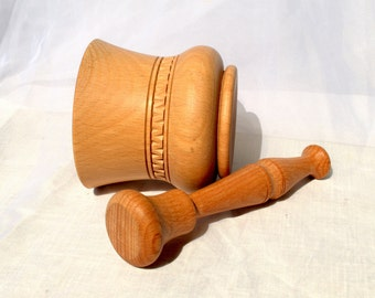 Wooden mortar Pestle and mortar Wooden Mortar and Pestle