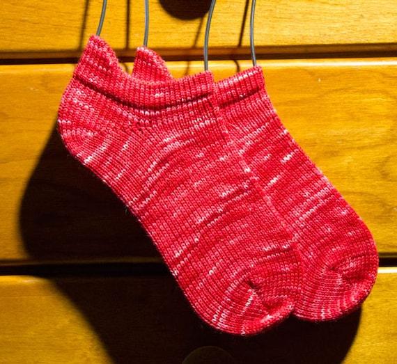 Handmade Knit Wool Anklet Socks Womens size 6-7 1/2