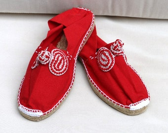 Red Espadrilles - Summer Slip-ons - Summer Shoes - Free Shipping