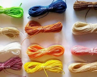 100 meters of waxed thread LINHASITA 1 mm thick, wire macramé, Brazilian thread, 50 colors x 2 meters