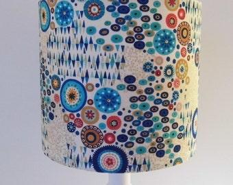 Klimt style drum lampshade