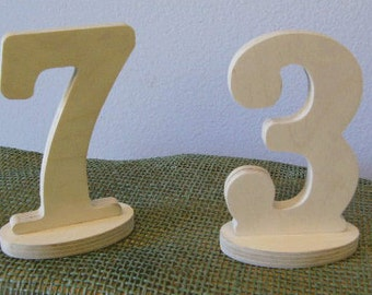 Wedding Table Numbers- FREE SHIPPING