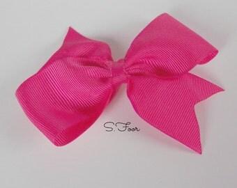 Shocking Pink Basic Boutique Bow