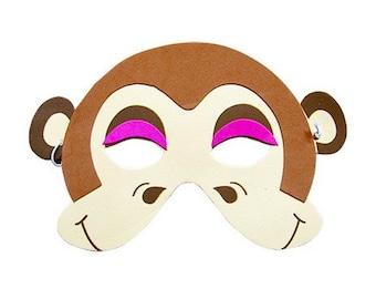 Monkey Mask, Handmade Custom Party Mask, Costume Mask, Costume Party Accessories, Handmade Mask, One size