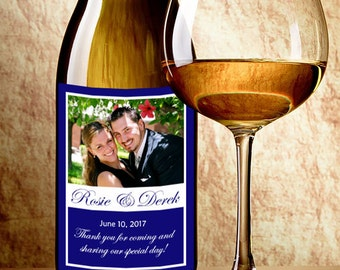 Wedding Photo Wine Labels with Your Photo - Photo Wedding Favor - Your Photo Wine Bottle Labels