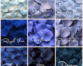 Blue Rose Petals - 3,000 Silk Rose Petals